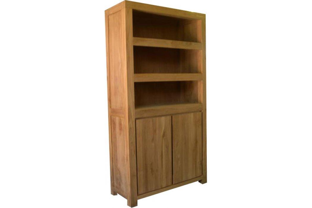 Teak Boekenkast met 2 deuren