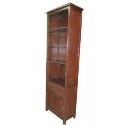 Teak boekenkast 55 cm Heenvliet 1 deur 4 planken