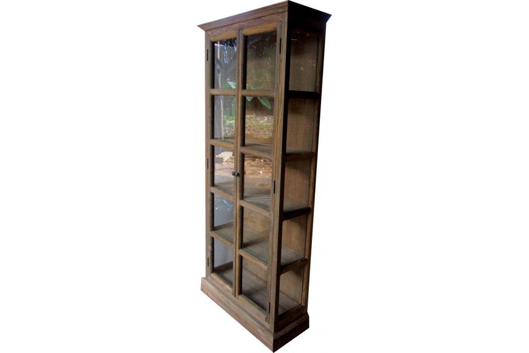 Badkamerkast Oud Hout : Teak recycled oud hout vitrinekast buffetkast met deuren