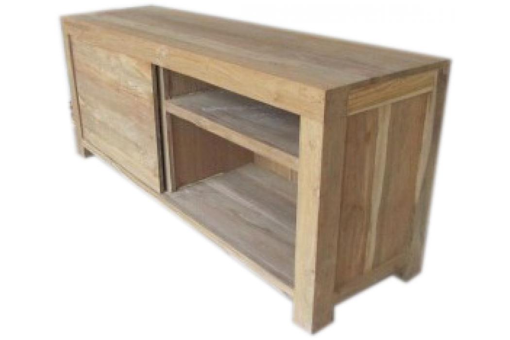 Schuifdeur Tv Kast : Teak recycled oud hout tv dressoir tv kast met schuifdeur