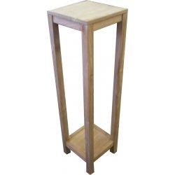 Teak Pedestal Almelo 30 bij 30 cm, 110 cm hoog