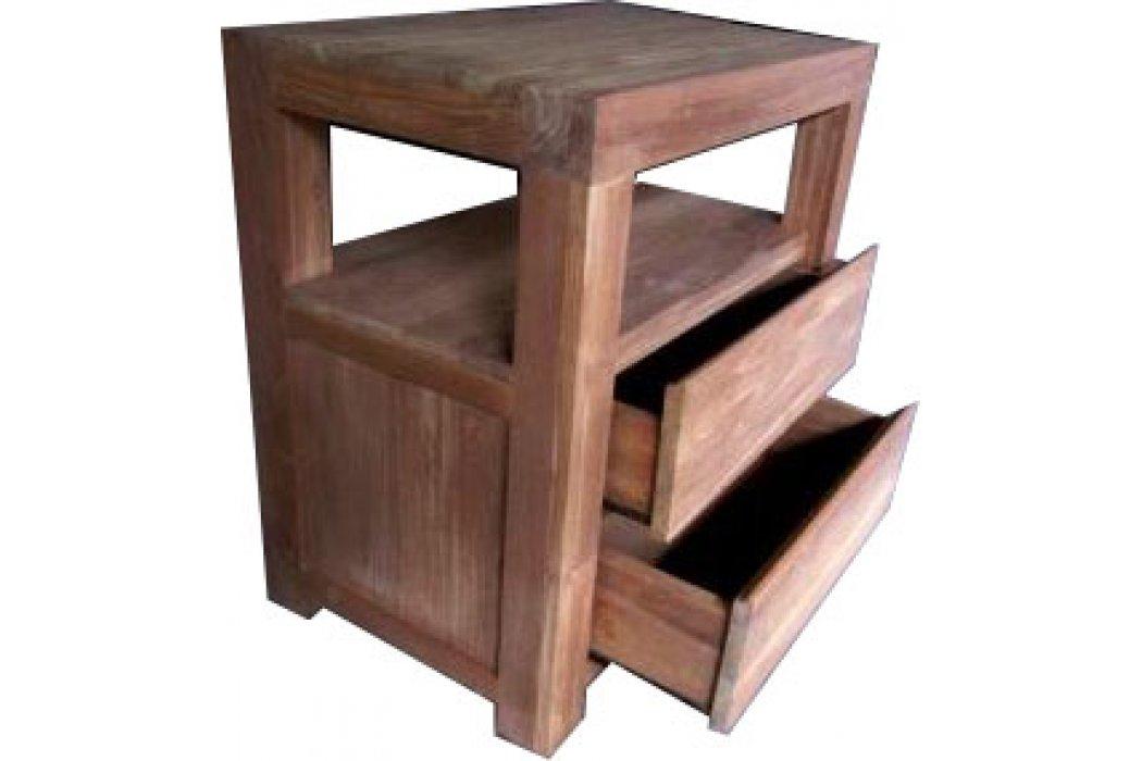 teak badkamer dressoir 39 rotterdam 39 80 cm met 2 laden. Black Bedroom Furniture Sets. Home Design Ideas